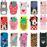3D Cartoon Kid Silicone Cover Case For iPhone 5 6S 7 8 Plus XR XS Max 11 Pro Max