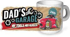 Koolart dad's Garaje My Tools My Rules Taza de cerámica & MAZDA EUNOS mx-5 FOTO