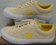New Mens 11.5 Converse One Star Suede OX Vanilla Solar Power Shoes $80 159814C