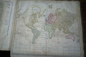 1777 ATLAS of 12 MAPS by WILLIAM FADEN USA AMERICA WORLD ASIA AFRICA HEMISPHERE