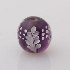 10pcs exquisite handmade Lampwork glass  beads dark purple round  14mm