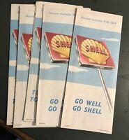Vintage 1968 60s Shell Oil Advertising Map Lot Car Victoria NSW SA QLD Tasmania