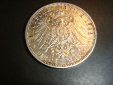 Germany Empire Wuerttemberg 1909 F , 3 Mark High Grade Silver Coin UNC ??? coins