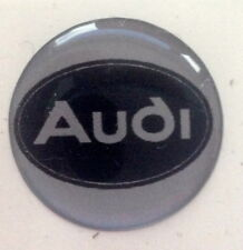 Audi  Sticker Badge Decal 20mm  - Black word  on silver bakground Self adhesive