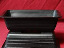 3 Pack Rectangular Black Plastic Bonsai Training Pots 7.5 x 5.5 x 2
