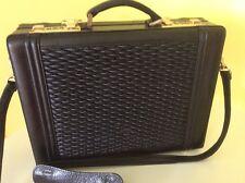 Rare Genuine All Leather Black Attaché Case Satchel Bag