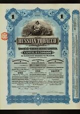 RUSSIA  The Russian Tobacco Company 1 share dd 1915 - uncancelled