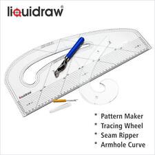 Modello Maker Combo Set FASHION Righello Armhole CURVA cucitura Ripper Ruota di tracciamento