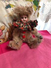 "Antique 7 1/2 "" tall Recknagel model 121 Circa 1900 Mohair Teddy Doll Ooak"