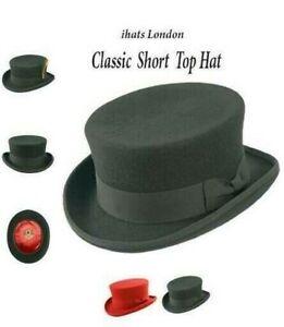 Short Top Hat Unisex 100% Wool Quality Felt Dressage Junior Top -iHATS London-UK