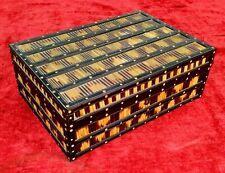 JEWELS BOX.  ANGLO - INDIAN STYLE. EBONIZED WOOD. HORN. INDIA. XIX CENTURY