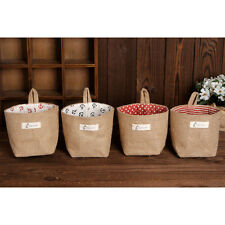 New Storage Box Jute Bag Cotton Sundries Holder Basket Storage Bag Hanging Bags