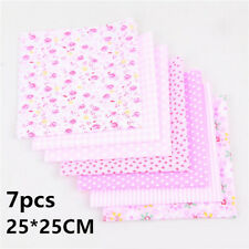 7PCS Cotton Fabric Bundle Squares Patchwork Material Fabric For Sewing