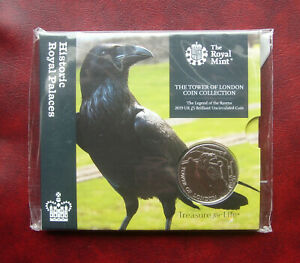 UK 2019 Tower of London - the legend of the ravens 5 pound coin