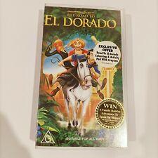Dreamworks The Road to El Dorado vintage Retro 90s VHS