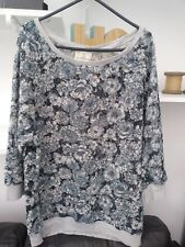 Ladies BNWT Very Trendy Blue Floral Lace Next Top Size 12