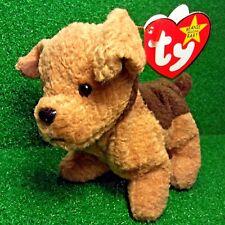 NEW Rare Retired 1996 Ty Beanie Baby Tuffy The Terrier Dog W/ Error Sticker MWMT