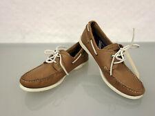 TOMMY HILFIGER Leder Bootsschuhe Schnürer Gr.45 UK10,5 Schuhe Shoes Braun Cognac