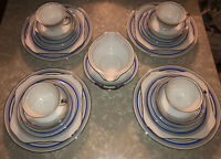 Meito Hand Painted China 25 Piece Dinnerware Dessert and Tea Set Made In Japan