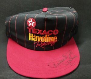 AUTOGRAPHED Texaco Havoline Pinstripe hat #28 Robert Yates driver Davey Allison