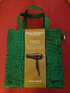 BABYLISS PRO TITANIUM 2000 Watt Hair Dryer & FREE Green Stylish Tote $180 Value!