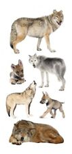 Scrapbooking Crafts Stickers Paper House Wolves Wolf Cubs Repeats Grey Slim