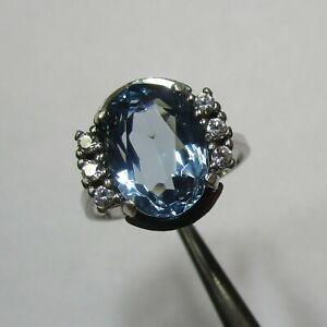 Attraktiver Farbstein Ring aus 925 Silber mit Zirkonia - 0000