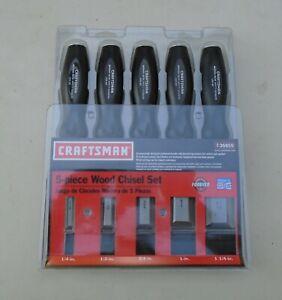 "Craftsman 36859 5-piece Wood Chisel Set U.S.A. 1/4""-1/2""-3/4""-1"" & 1-1/4"" NEW!"