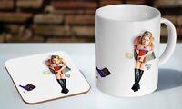Bridget Jones Tea - Coffee Ceramic Mug Coaster Gift Set