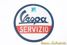 """VESPA Relief-Blechschild """"Servizio"""" - 150 mm - Email Emaille Piaggio Service V50"""