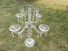 1X 5-Heads Tall Crystal Candle Holder Candelabra 57.5cm High