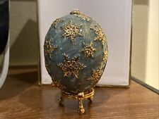 Rare Vintage 2006 Joan Rivers Imperial Treasures Snowflake Egg w/ Pendant