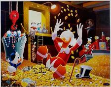 Alan Young Signed Disney Scrooge 11x14 Canvas Print Photo Duck Tales OC Holo A