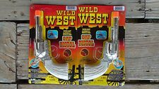2 Wild West Metal Cap Guns Toy Paper Roll Caps Required