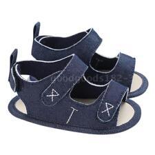 Baby Boys Shoes Canvas Cloths Sandal Soft Sole Non-Slip Prewalker For Y2T1