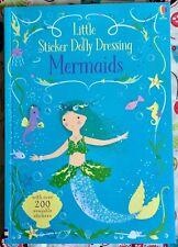 Usborne Little Sticker Dolly Dressing Mermaids NEW Paperback