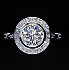 Certified 2.65CT White Round Cut Diamond Exclusive Halo Bridal Ring 14K Gold