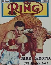 JAKE LAMOTTA 8X10 PHOTO BOXING PICTURE RAGING BULL THE RING PICTURE