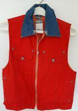 Liz Claiborne Womens Red/Orange Reversible Waistcoat Size Medium