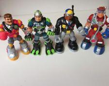 4 Rescue Hero Action Figures (Billy Blazes/Gil Gripper/Jake Justice/Matt Medic)