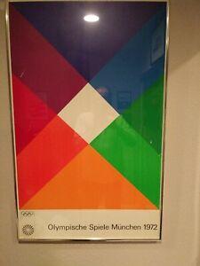 Framed 1972 Very Rare Olympische Spiele Munchen 1972 Poster 40x25 Framed