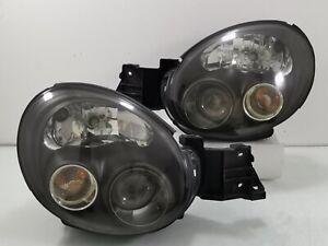 JDM Subaru Ver7 Impreza WRX STi BLACK Projector OEM Headlights Head Lamps GDB GG