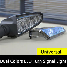2 Pcs Motorcycle 2 IN 1 Dual Colors LED Turn Signal Lights DRL Lamps Waterproof
