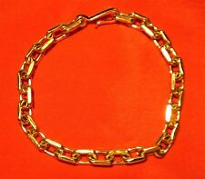 Vintage - Avon - Gold Tone - Oval Style Link Chain Bracelet - 8 Inches Long