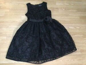 Girls black party dress Miss CG used in good condition size size 11 years