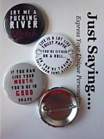 3-pk Novelty Buttons/Pins : Crude Sarcastic HUMOR : Cry me a river, toilet paper