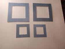 4 passes partouts à motifs , biseaux blancs ext  : 30x30 cm et 18x18 cm