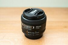 Nikon Nikkor 35mm f2.0 AF D Prime Lens / EX+ Condition / Boxed / Used