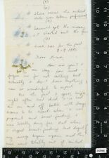 Vintage letter 1990 woman talking about drug addictions /  cocaine use .