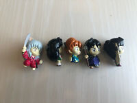 Inuyasha Magnet Figure Complete Set Of 5 Old Vintage